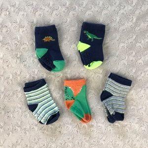Carter's Baby Boy Socks 3-12 Months Dinosaur